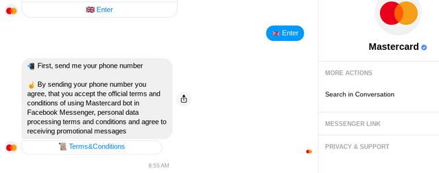 Chat Mastercard