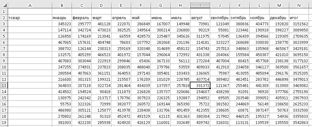 консолидация Excel