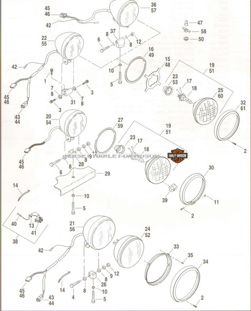 cerclage interne de phare héritage Softail04-48