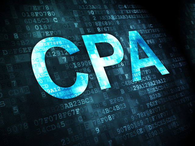 Business-concept-pixelated-words-CPA-on-digital-background-3d-render
