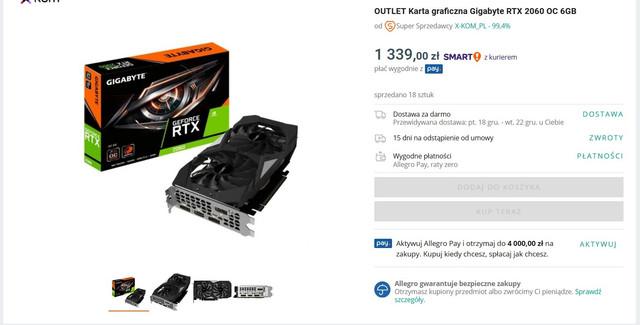 Grafiki Z Outlet X Kom Karty Graficzne Forum Pclab Pl