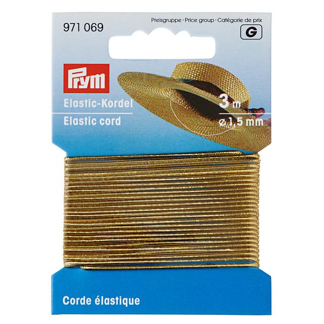 Prym Elastic Cord String Thread 3m Ø 1.5mm Craft Rubber White 971065