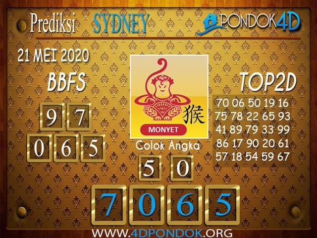 Prediksi Togel SYDNEY PONDOK4D 21 MEI 2020