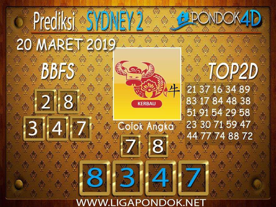 Prediksi Togel SYDNEY 2 PONDOK4D 20 MARET 2019