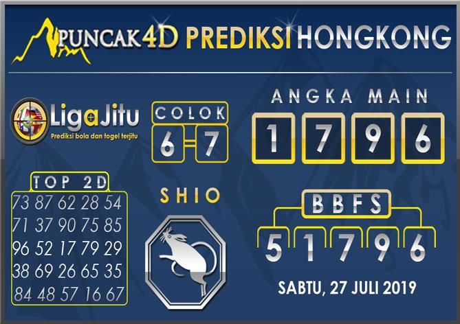 PREDIKSI TOGEL HONGKONG PUNCAK4D 27 JULI 2019