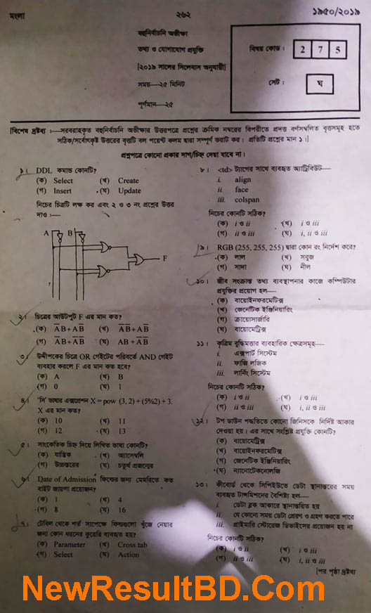 HSC ICT Exam Question Solution 2019 [আজকে