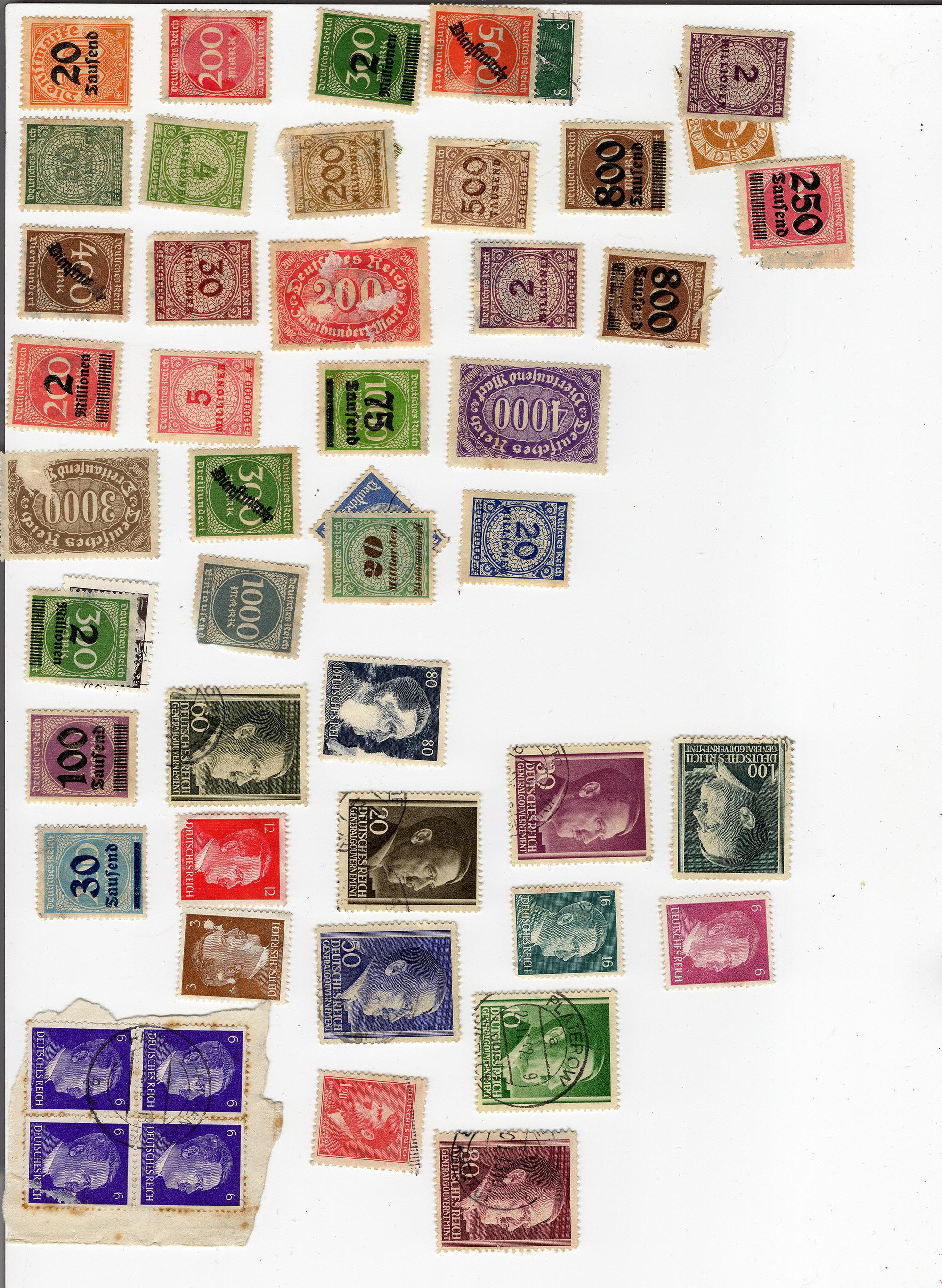 """""""Deutsches Reich"""" Diverse Briefmarken gefunden Marken-02"""