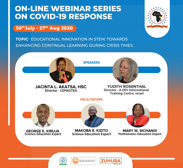 "This is to invite you to a free online webinar series on ""Educational Innovation in STEM: Towards Enhancing Continual Learning during Crisis Times"".   Please register on the link below. https://bit.ly/2OGtxOW  The ZOOM link, ID and Password will be shared a day to the event."