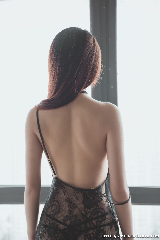 Tsubaki Album vol.006 Sheer lace pajamas 怠いお昼のパジャマ少女 sexy-nightdress-36