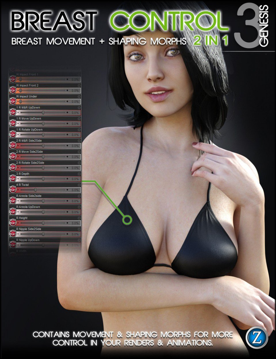 Breast Control for Genesis 3 Female(s)