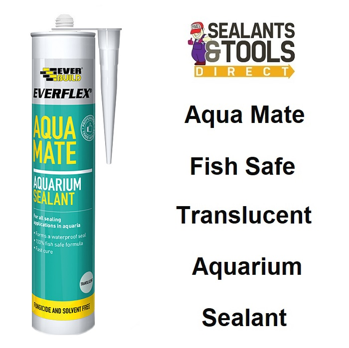 Everbuild Aqua Mate Aquarium Silicone Sealant Clear AQUATR