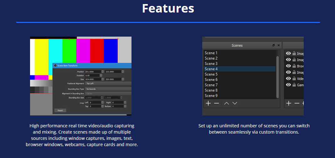 Open Broadcaster Software (OBS) Video/Screen Recorder/Live Stream