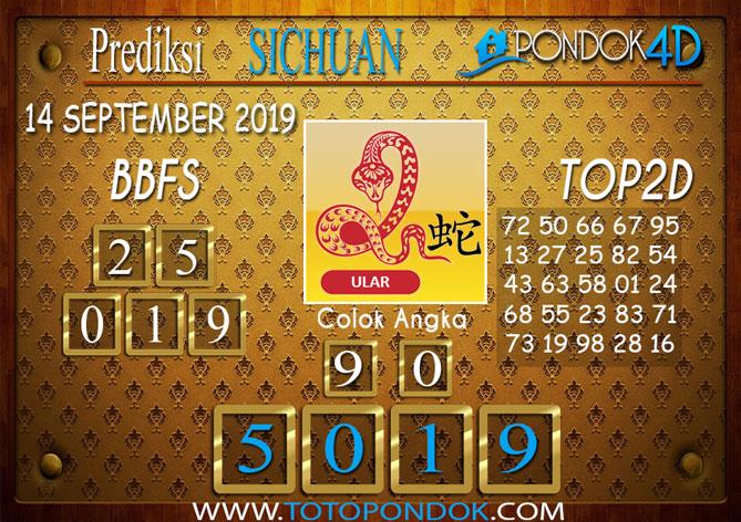 Prediksi Togel SICHUAN PONDOK4D 14 SEPTEMBER 2019