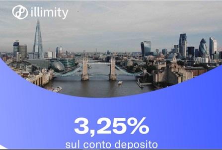 Illimity PROMOZIONE 25,00€ DI BENVENUTO + 25,00 €/invito Scadenza 31/12/2019 + interessi fino 3,25% Deposito-illimity-1