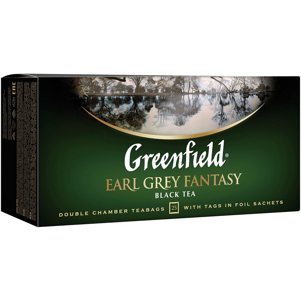 Greenfield Earl grey fantasy შავი 25 პაკეტი - Greenfield Earl gray fantasy Black 25 packs