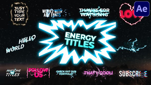Energy Titles Pack   After Effects 30128033 - Project for After Effects (Videohive)
