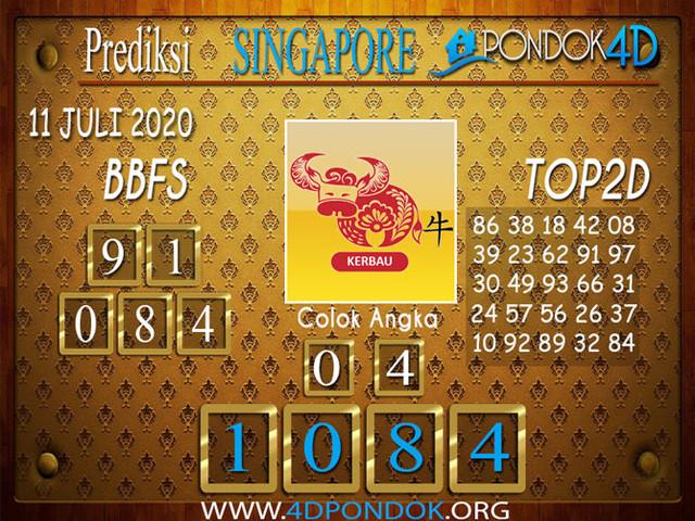 Prediksi Togel SINGAPORE PONDOK4D 11 JULI 2020