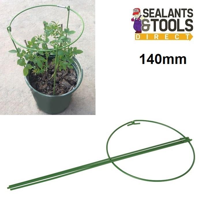Silverline-Garden-Green-Wire-Ring-Plant-Support-467823-140mm