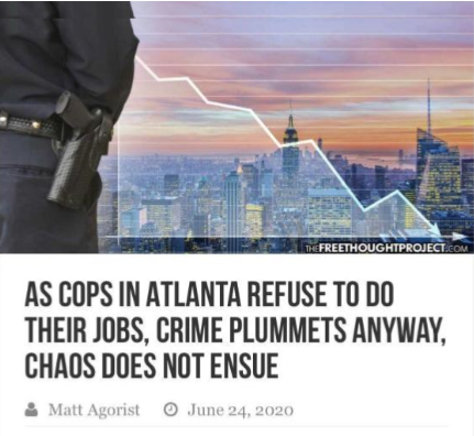 Less Police Equals Less Crime, Proven Over and Over Again