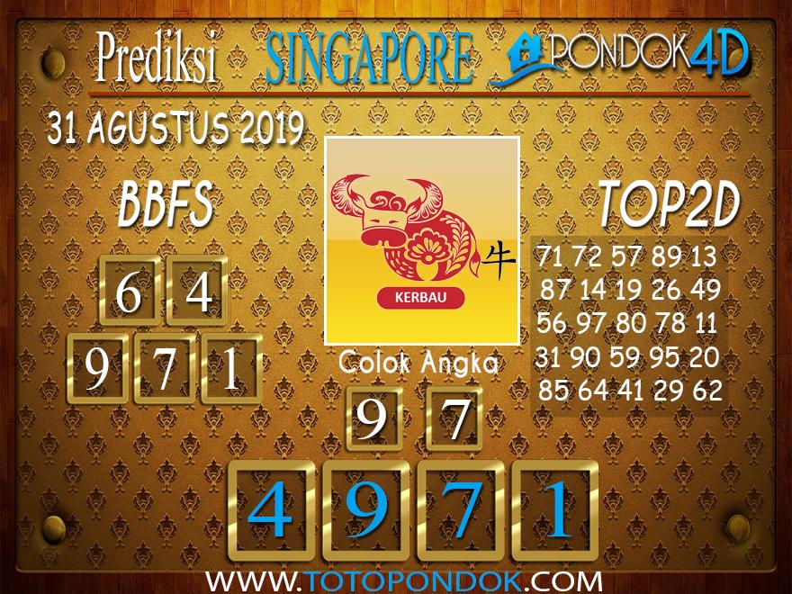 Prediksi Togel SINGAPORE PONDOK4D 31 AGUSTUS 2019