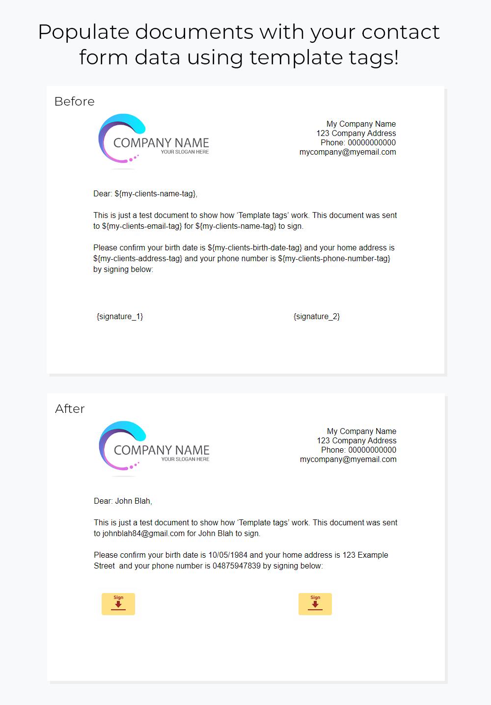 Contact Form 7 Docusign Envelope Creator for Wordpress - 2