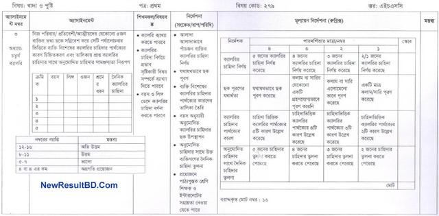 Khaddo O Pushti 4th Week HSC Assignment