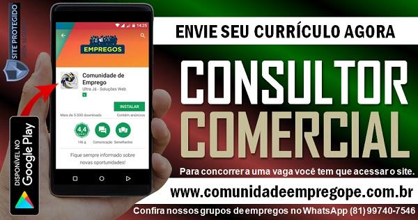 CONSULTOR COMERCIAL PARA EMPRESA DE TERCEIRIZAÇÃO DE SERVIÇOS
