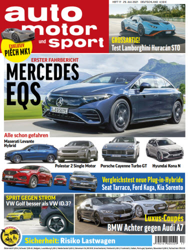 Cover: Auto Motor und Sport Magazin No 17 vom 29  Juli 2021