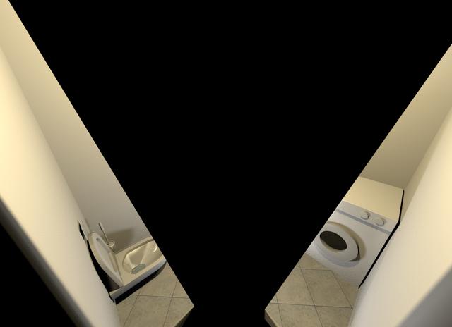 3-D-Ansicht-Bad-Fehler