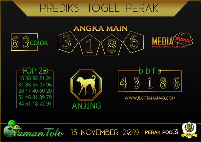 Prediksi Togel PERAK TAMAN TOTO 15 NOVEMBER 2019