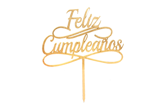 Letrero Feliz Cumpleaños