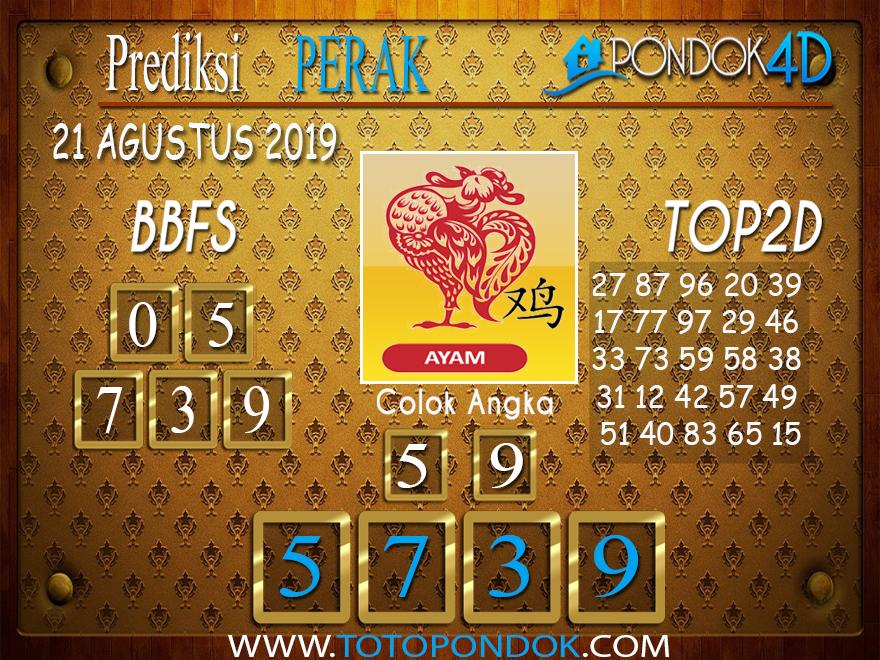 Prediksi Togel PERAK POOLS PONDOK4D 21 AGUSTUS 2019
