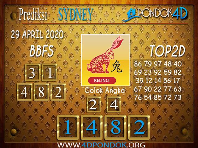 Prediksi Togel SYDNEY PONDOK4D 29 APRIL 2020