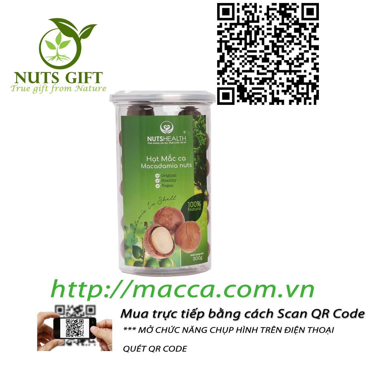HẠT MẮC CA MACCA ÚC – NUTSHEALTH – 300 GR