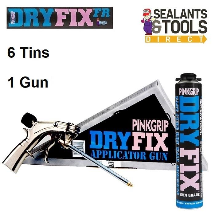 Everbuild Dry Fix Gun & 6 Dryfix Fr Plasterboard Installation Foams