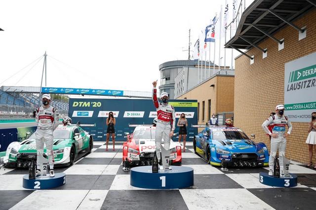 DTM – René Rast remporte le podium Audi au Lausitzring A204837-medium