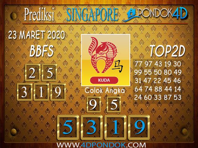Prediksi Togel SINGAPORE PONDOK4D 23 MARET 2020