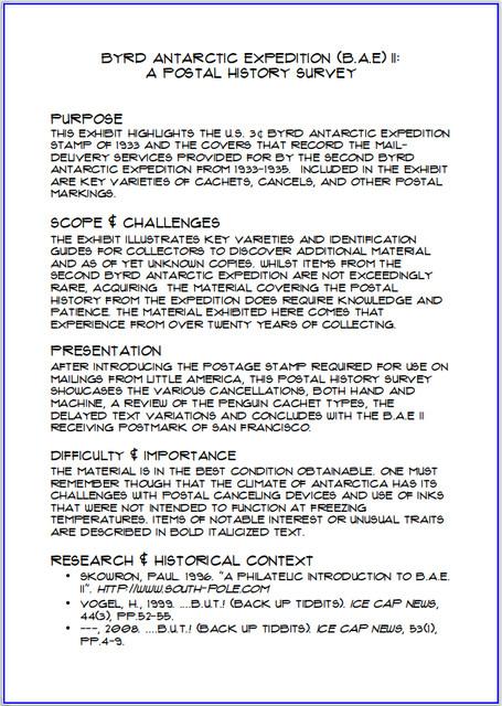 B-A-E-II-A-Postal-History-Study-Synopsis-Page
