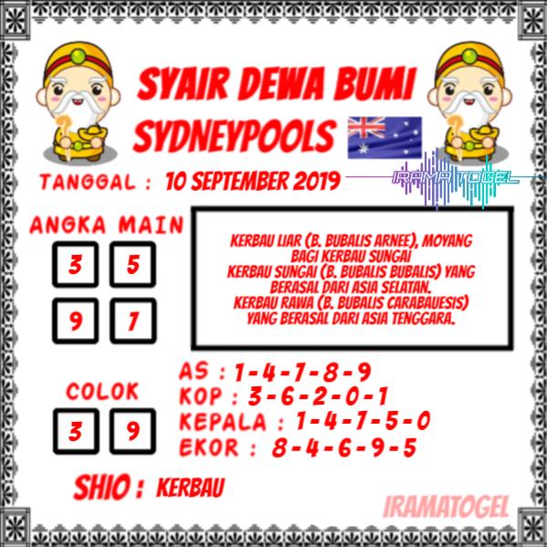 Syair-Sydney-Dewa-Bumi-10-September-2019
