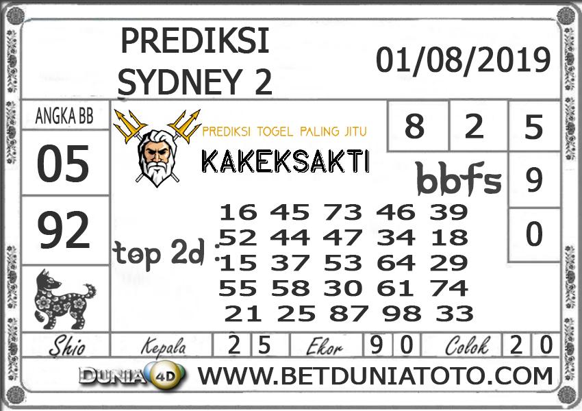 "Prediksi Togel ""SYDNEY 2"" DUNIA4D 01 Agust 2019"
