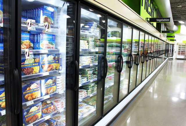 TORONTO-CANADA-MAY-06-2014-Frozen-foods-aisle-in-a-supermarket-in-Toronto-Ontario-Canada-In-North-Am