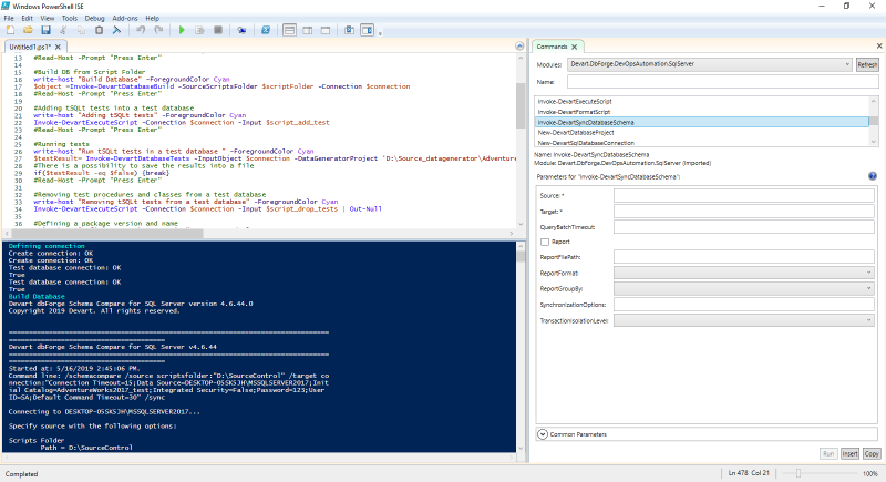 dbForge DevOps Automation for SQL Server full screenshot