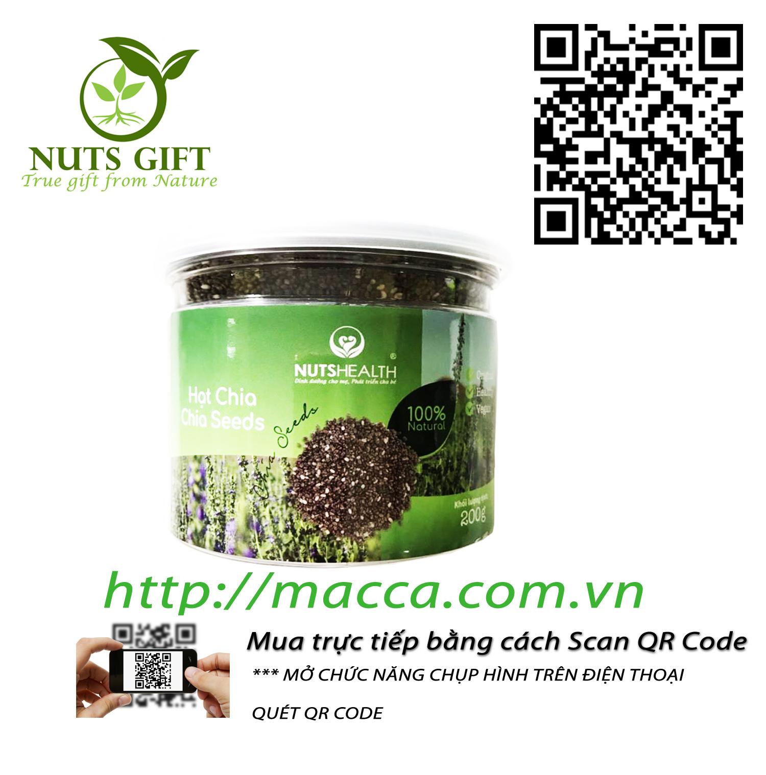 Hạt Chia – Nutshealth – 200Gr