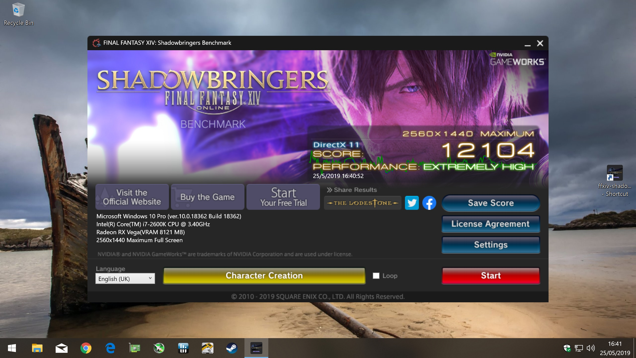 Final Fantasy XIV Shadowbringers Benchmark Download