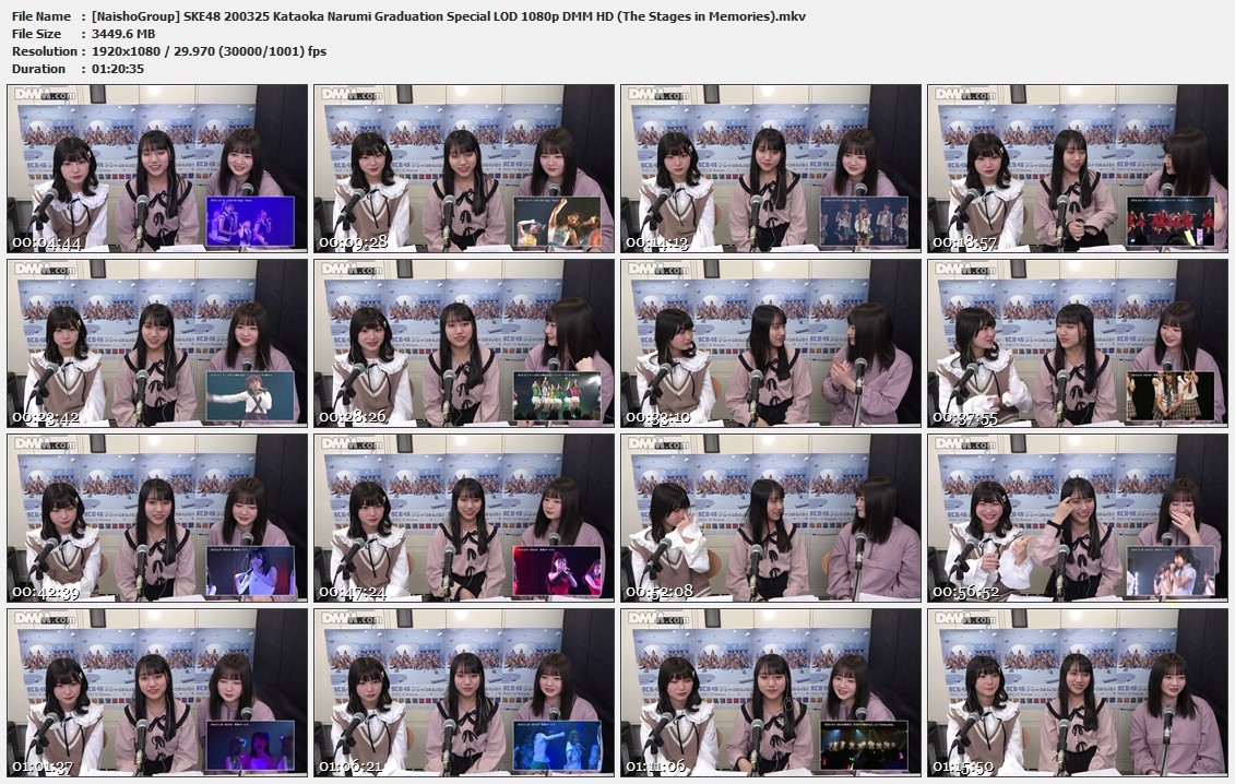 Naisho-Group-SKE48-200325-Kataoka-Narumi-Graduation-Special-LOD-1080p-DMM-HD-The-Stages-in-Memories-mkv