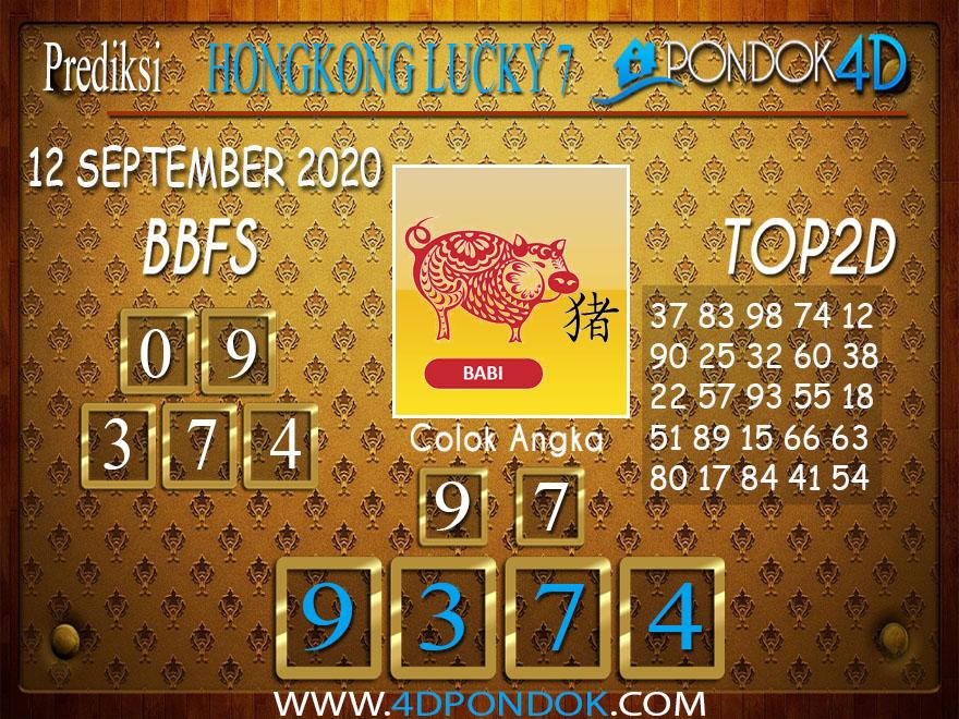 Prediksi Togel HONGKONG LUCKY 7 PONDOK4D 12 SEPTEMBER 2020