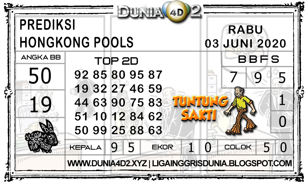 Prediksi Togel HONGKONG DUNIA4D2 03 JUNI 2020