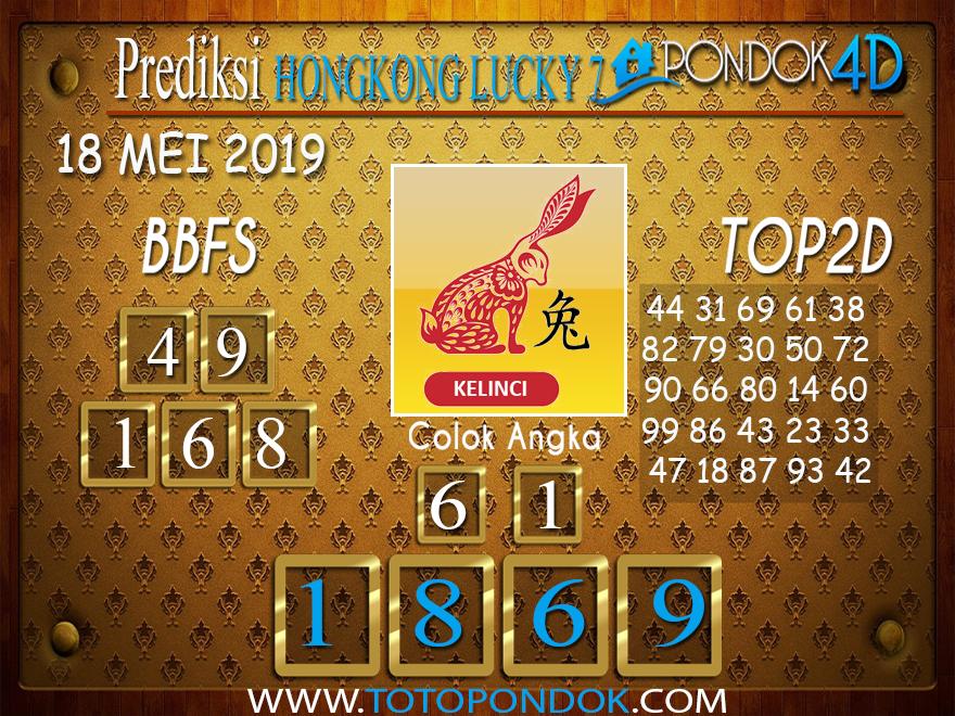 Prediksi Togel HONGKONG LUCKY 7 PONDOK4D 18 MEI 2019