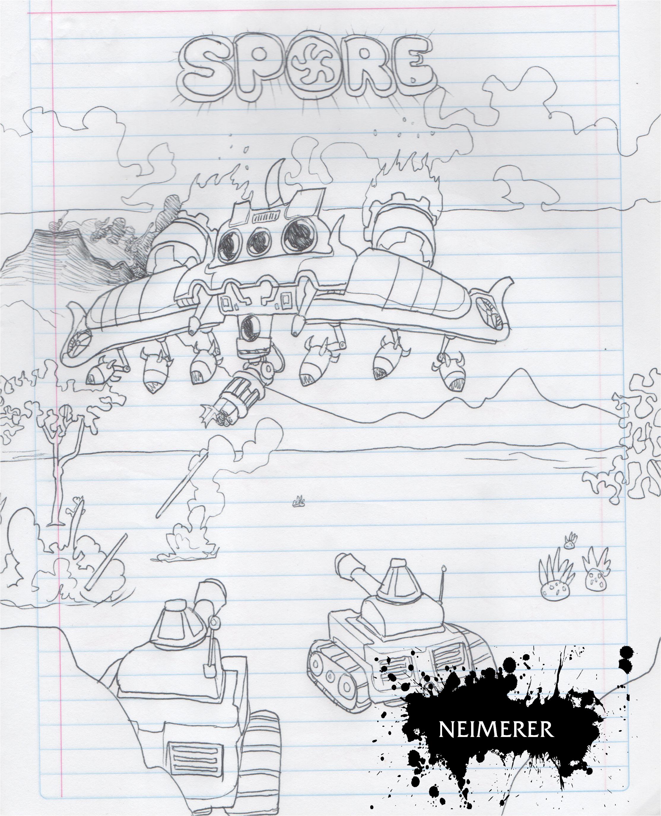 (31) Dibujos de SPORE 001