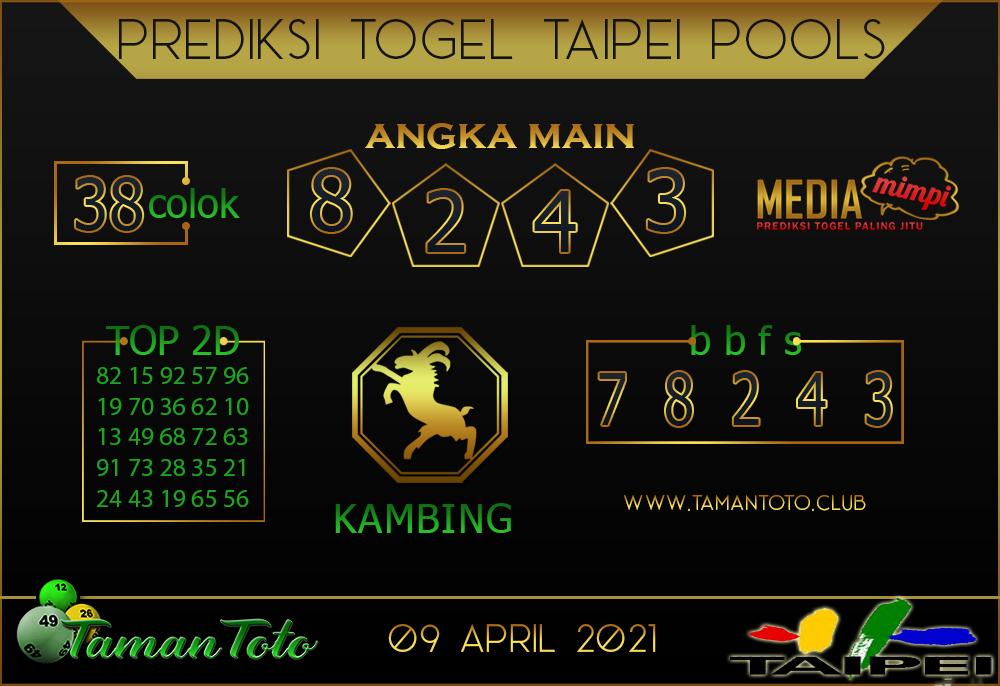 Prediksi Togel TAIPEI TAMAN TOTO 09 APRIL 2021